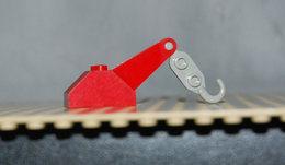 Légo Crochet Brique Pente 45 2 X 3 X 1 1.3 Avec Crochet De Remorquage Gris Clair Ref 3135c02 - Lego Technic