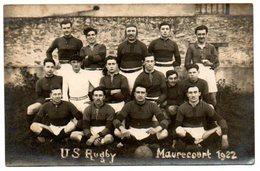 78 - Yvelines / MAURECOURT -- Carte - Photo US Rugby Maurecourt 1922, Annotée Georges Queneville Au Dos. - Maurecourt