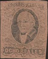 J) 1861 MEXICO, HIDALGO, 8 REALES, NO DISTRICT NAME, MN - Mexico