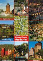 1 Map Of Germany * 1 Ansichtskarte Mit Der Landkarte  - Romantisches Neckartal * - Landkarten