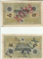 Lot 50 Piastres Faux 1919-1922 - Turquie
