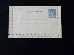 ENTIER POSTAL  CARTE LETTRE  15 C TYPE SAGE - Postal Stamped Stationery