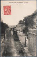 Villefranche De Rouergue , Train En Gare , Animée - Villefranche De Rouergue