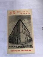 Facture Au Dos Du Grand Hôtel De Le Mule Noire à Aix En Provence (année 1938) - France