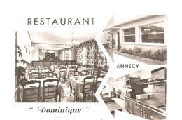CPSM Annecy (74) Restaurant Dominique 16, Avenue Mandallaz - Annecy