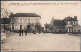 Gron , La Place , La Mairie , L'école Des Garçons Et Le Bureau De Postes , Animée - Autres Communes