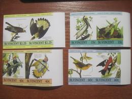 St.Vincent 1985 Audubon Birds Set Imperf. MNH - St.Vincent (1979-...)
