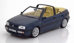 VW GOLF III CABRIOLET 1995 DARK BLUE METAL NOREV 188434 1/18 VOLKSWAGEN 3 - Norev
