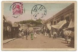 CARTE POSTALE EGYPTE ALEXANDRIE / 1918 / BAZAR ARABE PRES DU FORT NAPOLEON / CACHET CENSURE 886 - Alexandrie