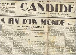 Candide Du 17 Juillet 1940 : La Fin D'un Monde Vichy Renoult, Jeanneney - Newspapers