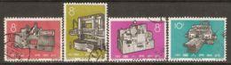 China P.R. 1966 Mi# 929-931, 933 Used - Short Set - New Industrial Machinery - 1949 - ... République Populaire