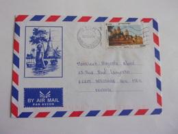 Enveloppe Cambodge Temple Prasat  Oblitération Phnompenh Tourisme - Cambodge
