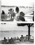 ROYAN 2 PHOTOS ORIGINALES 1938 BAC POUR LA POINTE DE GRAVE - POINTE DE GRAVE VUE SUR LE VERDON - Royan