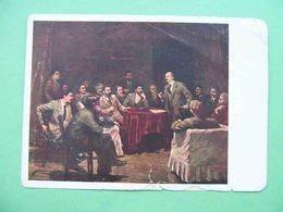 USSR 1939 STALIN And LENIN In Krakow In 1913 Year. Russian Propaganda Postcard - Russland