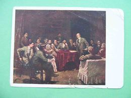 USSR 1939 STALIN And LENIN In Krakow In 1913 Year. Russian Propaganda Postcard - Rusland