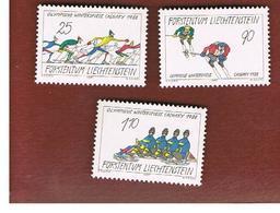 LIECHTENSTEIN - SG  928.930 -   1987 WINTER OLYMPIC GAMES    (COMPLET SET OF 3)   - NUOVI  (MINT) ** - Nuovi
