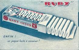 -ref- B610- Publicité Ruby - Coton Chirurgical - Santé - Carte Bon Etat - - Publicité