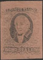 J) 1861 MEXICO, HIDALGO, 8 REALES, NO DISTRICT NAME, JUMBO MARGINS, MN - Mexico