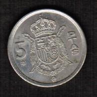 SPAIN  5 PESETAS 1975 (76) (KM # 807) #5303 - [ 5] 1949-… : Kingdom