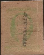 J) 1861 MEXICO, HIDALGO, 8 REALES GREEN, VERACRUZ DISTRICT, JUMBO MARGINS, MN - Mexico