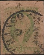 J) 1861 MEXICO, HIDALGO, 8 REALES GREEN, MEXICO DISTRICT, CIRCULAR CANCELLATION, MN - Mexico