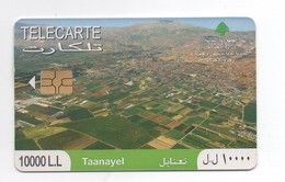 Taanayel 2010 Used Phonecard  Lebanon , Liban  Libanon - Lebanon