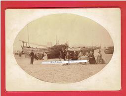 PHOTOGRAPHIE 28 AOUT 1886 PLAGE DE BERCK PAS DE CALAIS 62 - Places