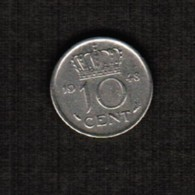 NETHERLANDS  10 CENTS 1948 (KM # 177) #5306 - [ 3] 1815-… : Kingdom Of The Netherlands
