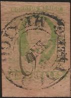 J) 1861 MEXICO, HIDALGO, 8 REALES GREEN, MEXICO DISTRICT, CIRCULAR CANCELLATION AND WITH PEN, MN - Mexico