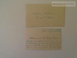 KA401.2 Carte De Visite - Visiting Card - Madmoiselle G. VERGEZ-TRICOM  - Bucuresti -Paris  Ca 1930's - Visiting Cards