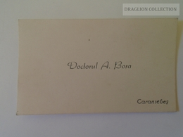 KA401.3 Carte De Visite - Visiting Card - Doctorul A.BORA  -Caransebes -Romania  Ca 1930 - Visiting Cards