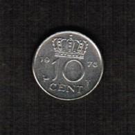 NETHERLANDS  10 CENTS 1975 (KM # 182) #5307 - 1948-1980 : Juliana