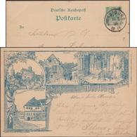 Allemagne 1893. Entier Postal TSC. Le Château De La Wartbourg (patrimoine UNESCO), Lutherstube Et Maison Luther - Theologen