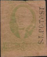 J) 1861 MEXICO, 8 REALES GREEN, HIDALGO, DISTRICT SAN LUIS POTOSI, MN - Mexico