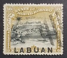 "1897-1898 Mount Kiinabalu, North Borneo Stamps Overprinted ""Labuan"", British North Borneo, Great Britain, *,**, Or Used - Nordborneo (...-1963)"