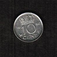 NETHERLANDS  10 CENTS 1980 (KM # 182) #5308 - 1948-1980 : Juliana