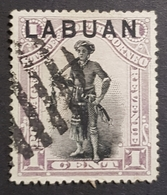 "1897-1898 Dayak Chief, North Borneo Stamps Overprinted ""Labuan"", British North Borneo, Great Britain, *,**, Or Used - Nordborneo (...-1963)"