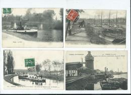 20 Cartes De Péniches , Péniche - Houseboats