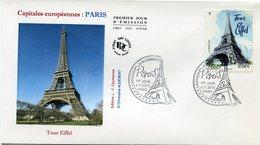 FRANCE ENVELOPPE 1er JOUR DU N°4517 TOUR EIFFEL OBLITERATION 1er JOUR PARIS 4-11-2010 - Denkmäler