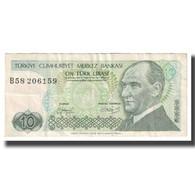 Billet, Turquie, 10 Lira, KM:192, TTB - Turquie
