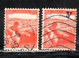 1945-46 Aide Aux Tuberculeux N° Maury 736, 750 Oblitérés - Usati