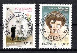 France 2018.Louise De Bettignies & Rose Valland.Cachet Rond.Gomme D'Origine. - France
