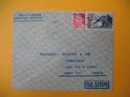 Lettre De La Réunion CFA  1949  N° 294 Et 297  De Saint Leu  Pour Paris - Reunion Island (1852-1975)