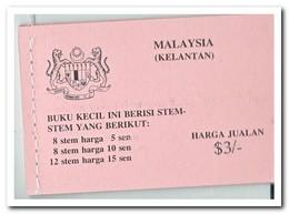 Maleisië Kelantan 1979, Postfris MNH, Flowers ( Booklet ) - Maleisië (1964-...)