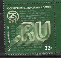 RUSSIA , 2019, MNH, NATIONAL TOP LEVEL DOMAIN, INTERNET,1v - Computers