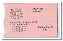 Maleisië Melaka 1979, Postfris MNH, Flowers ( Booklet ) - Maleisië (1964-...)