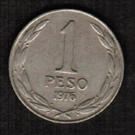 CHILE  1 PESO 1976 (KM # 208) #5313 - Chile