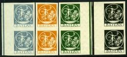 Bavaria. Scott #251a-254a. Mint Pairs. ** - Bavaria