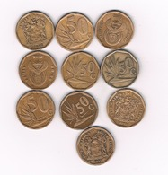 10 X 50 CENTS ZUID AFRICA /4700/ - Afrique Du Sud