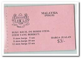 Perlis 1979, Postfris MNH, Flowers ( Booklet ) - Maleisië (1964-...)